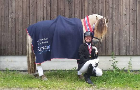 Fjorårets Norgesmestere, Sylvia og Freddi, er klar for å kjempe om medaljer i Danmark